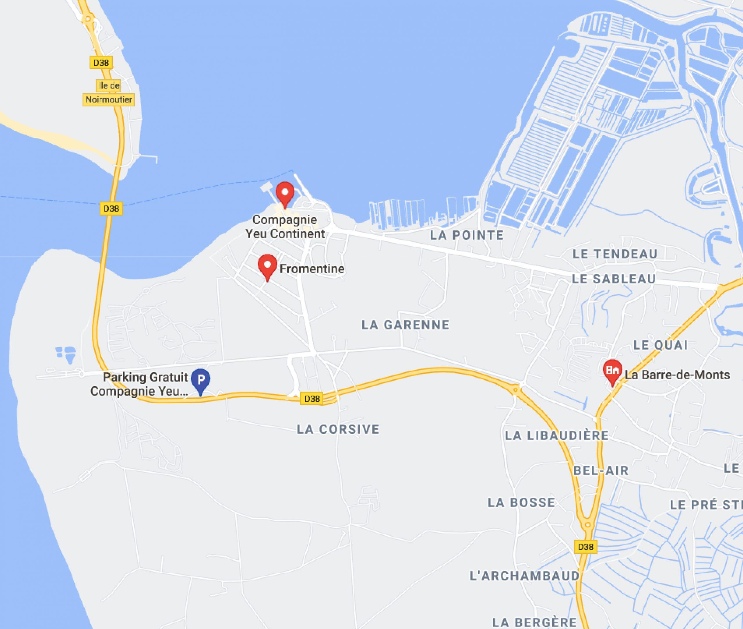 map parking